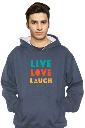 Live Love Lough Customized Hoodie (Navy Blue)