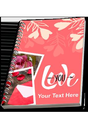 Beautiful Love you Spiral Notebook