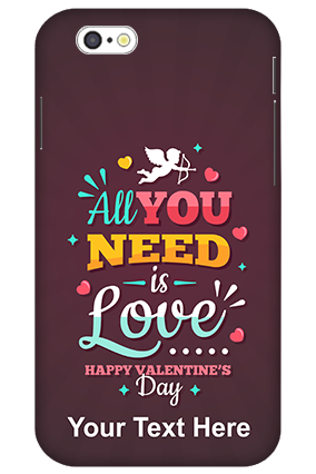 3D-iPhone 6 All you Need Love Customised Mobile Back Cover
