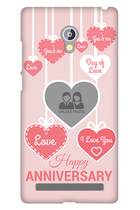 Asus Zenfone 6 Pink Heart Anniversary Mobile Cover
