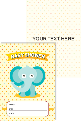 Buy baby shower invitation cards online in india with custom photo small baby shower invitation card filmwisefo