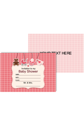 Buy personalized baby shower gifts landscape online in india with colored baby shower invitation card negle Image collections