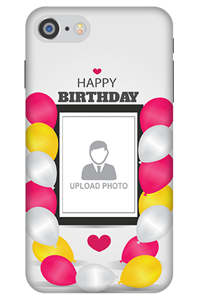 3D IPhone 7 Birthday Greetings Mobile Cover