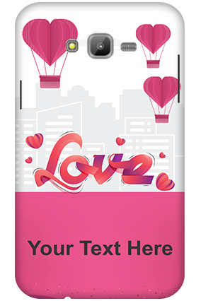 3D-Samsung Galaxy J7 Hearts in Air Mobile Cover