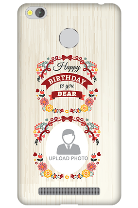Xiaomi Redmi 3S Prime Happy Birthday Dear Mobile Cover