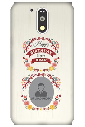 3D Motorola Moto G4 Plus Happy Birthday Dear Mobile Cover