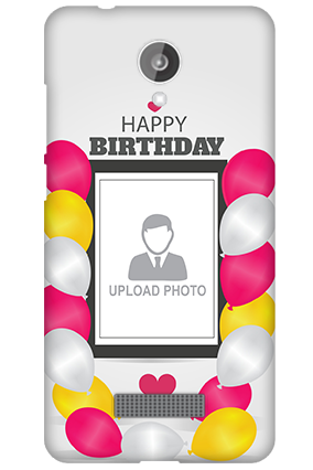 Silicon - Micromax Canvas Spark Q380 Birthday Greetings Mobile Cover