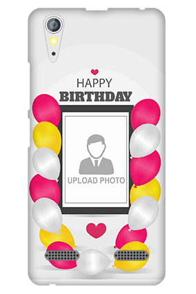 Transparent Silicon - Birthday Greetings Lenovo A6000 Mobile Cover