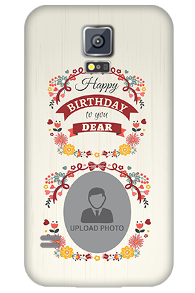 Customised Samsung Galaxy S5 Happy Birthday Dear Mobile Cover