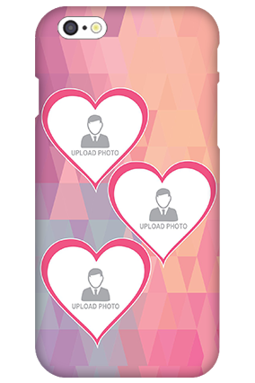 3D IPhone 6  Pinkish Heart Mobile Cover