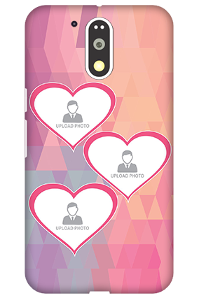 3D Motorola Moto G4 Plus Pinkish Heart Mobile Cover
