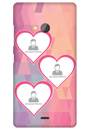 Custom Microsoft Lumia 540 Pinkish Heart Mobile Cover