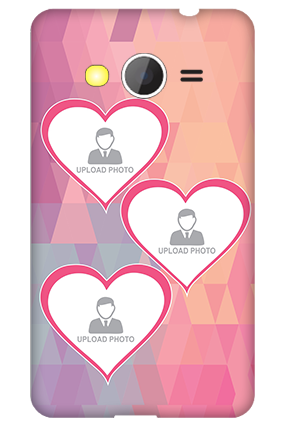Samsung Galaxy Core 2 Pinkish Heart Mobile Cover