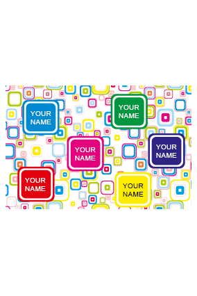 Personalised Colored Boxes Gift Paper