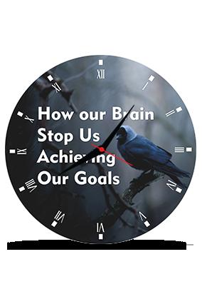 Bird Printed Round MDF Clock