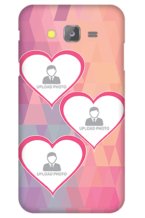 Silicon-Samsung Galaxy J5 Pinkish Heart Mobile Cover