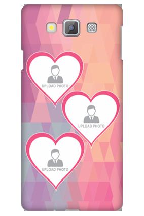 Customized Samsung Galaxy A7 Pinkish Photos Heart Mobile Cover