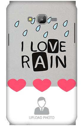 3D-Samsung Galaxy J7 I Love Rain Mobile Cover