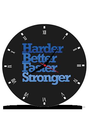 Blackish Round MDF Clock