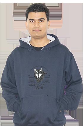 American Wolf Full Sleeves Hoodie