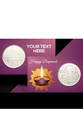 Designer Diya Silver Coin