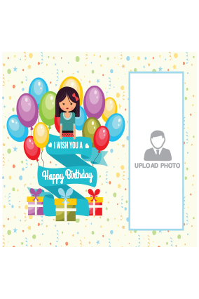 Birthday Balloon Square Canvas Print