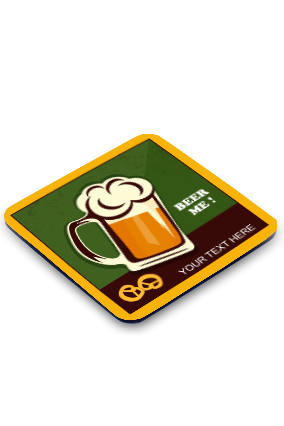 Beer Square Coaster