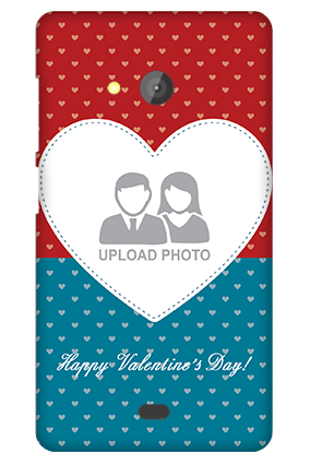 Microsoft Lumia 540 Colorful Heart Valentine's Day Mobile Cover