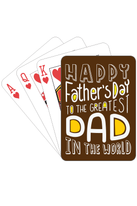 Coolest Dad  Fathers Day Playing Cards