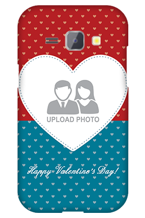 Silicon - Samsung Galaxy J1 Colorful Heart Valentine's Day Mobile Cover