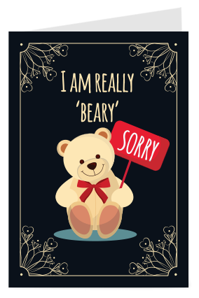 Sorry cards make sorry greeting card online india printland beary sorry cord m4hsunfo