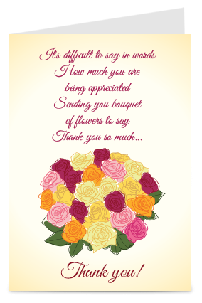 Personalised Floric Thank You Card