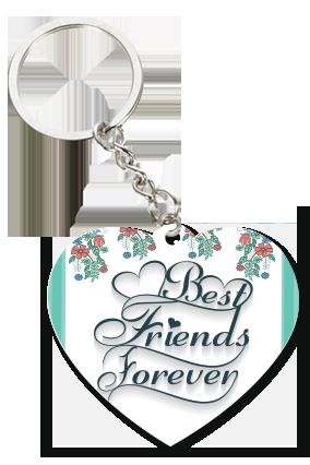 Forever White Heart Key Chain