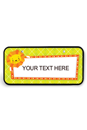 Personalized Yellow Wooden Nameplate