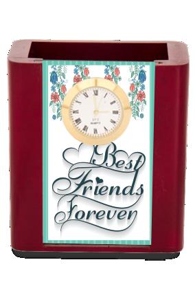 Best Friends Desk Stand Clock
