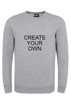 Umbro - Create Your Own Gray Sweatshirt