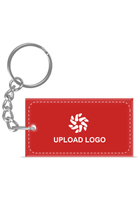Promotional Red Acrylic Rectangle Key Chain