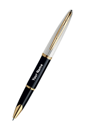 Waterman Carene Dlx Black Gt Ball Pen