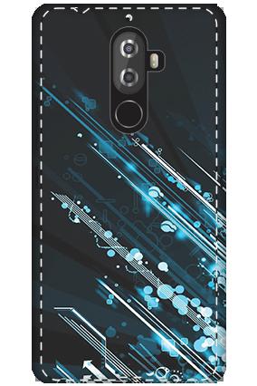 3D - Lenovo K8 Note Blue Bright Lightning Mobile Cover