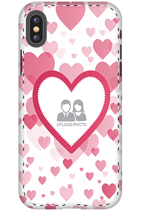Customized 3D-Apple iPhone X True Love Anniversary Mobile Cover