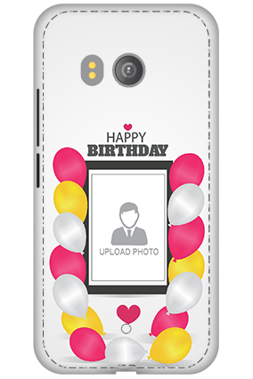 3D - HTC U11 Birthday Greetings Mobile Cover