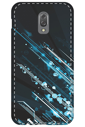 3D - Infinix Hot 4 Blue Bright Lightning Mobile Cover