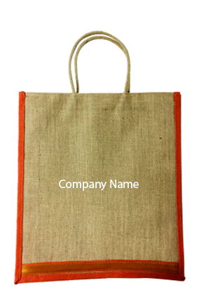 Printed Company Name Jute Bottle Bag 04