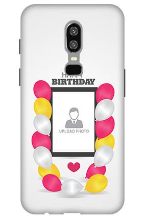 3D-OnePlus 6 Birthday Greetings Mobile Cover