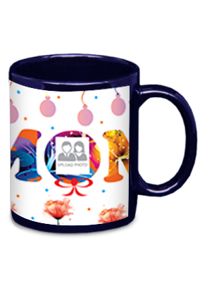 Best Mom Ever Blue Patch Mug