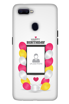 3D-Oppo F9 Birthday Greetings Mobile Cover