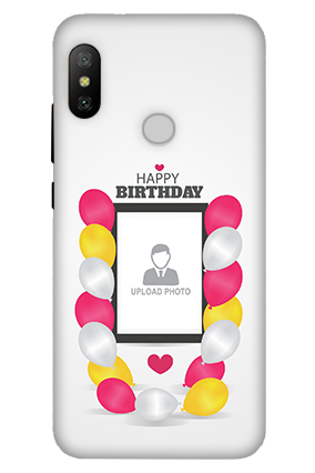 3D-Xiaomi Mi A2 Birthday Greetings Mobile Cover