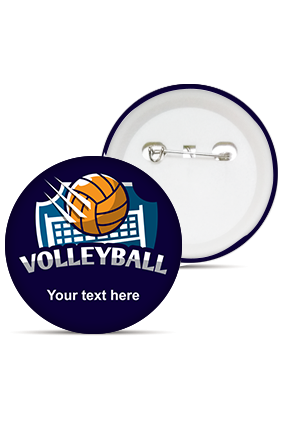 Volleyball Love Round Shape Badges