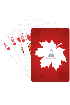 Maple Leave on Red Playing Cards