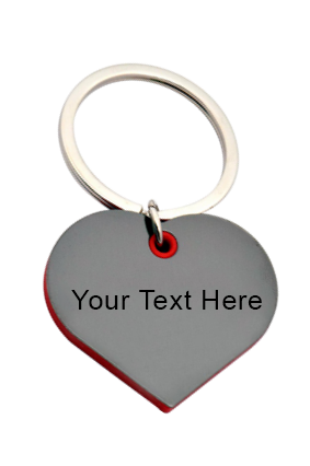 Customize Heart Shape Keychain With Highlights J88
